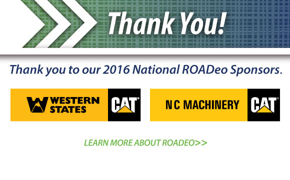 A special thank you to those helping make the ROADeo happen.